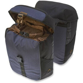 Basil Miles Luggage Carrier Double Bag 32L, black slate